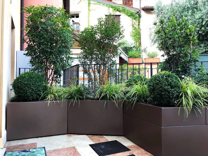 VANTO fioriere di design per giardino privato